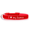 Collare Zuky I love my human - Rosso
